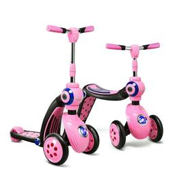 2-in-1 Kids Convertible Kick Scooter Balance Trike With 3 Wh