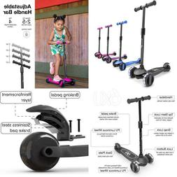 6Ku 3 Wheels Kick Scooter For Kids And Toddlers Girls  Boys,