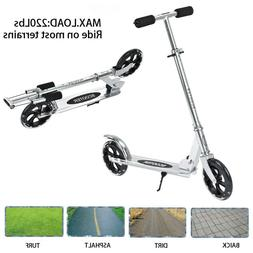 Adult /Teens Folding Kick Scooter 3 Levels Height 2 Big Whee