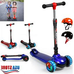 Kid Scooter Kick Scooter Deluxe For Age 3-12 Adjustable Girl