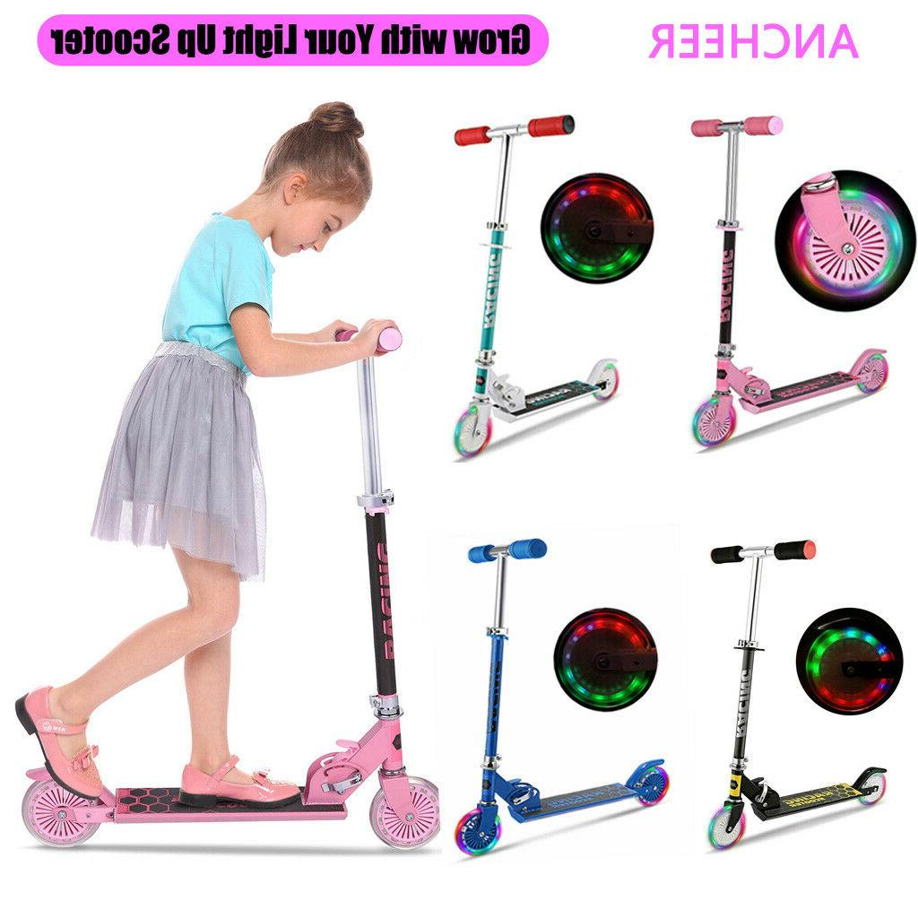 Kid Scooter Deluxe Adjustable Scooters Boys 2 Gift