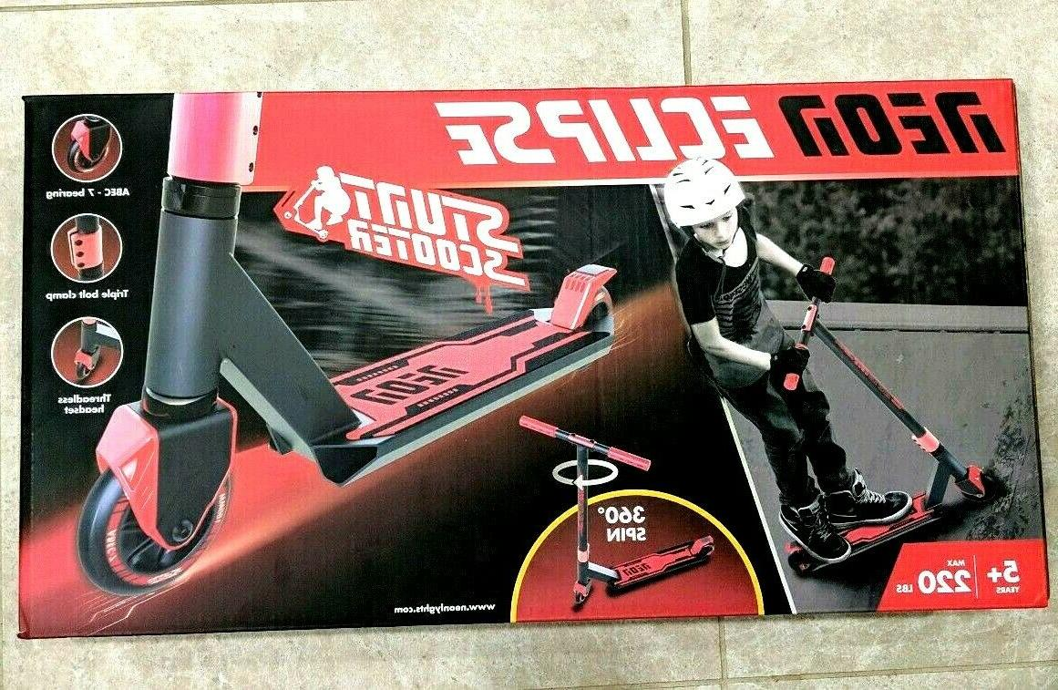 neon eclipse stunt scooter red brand new
