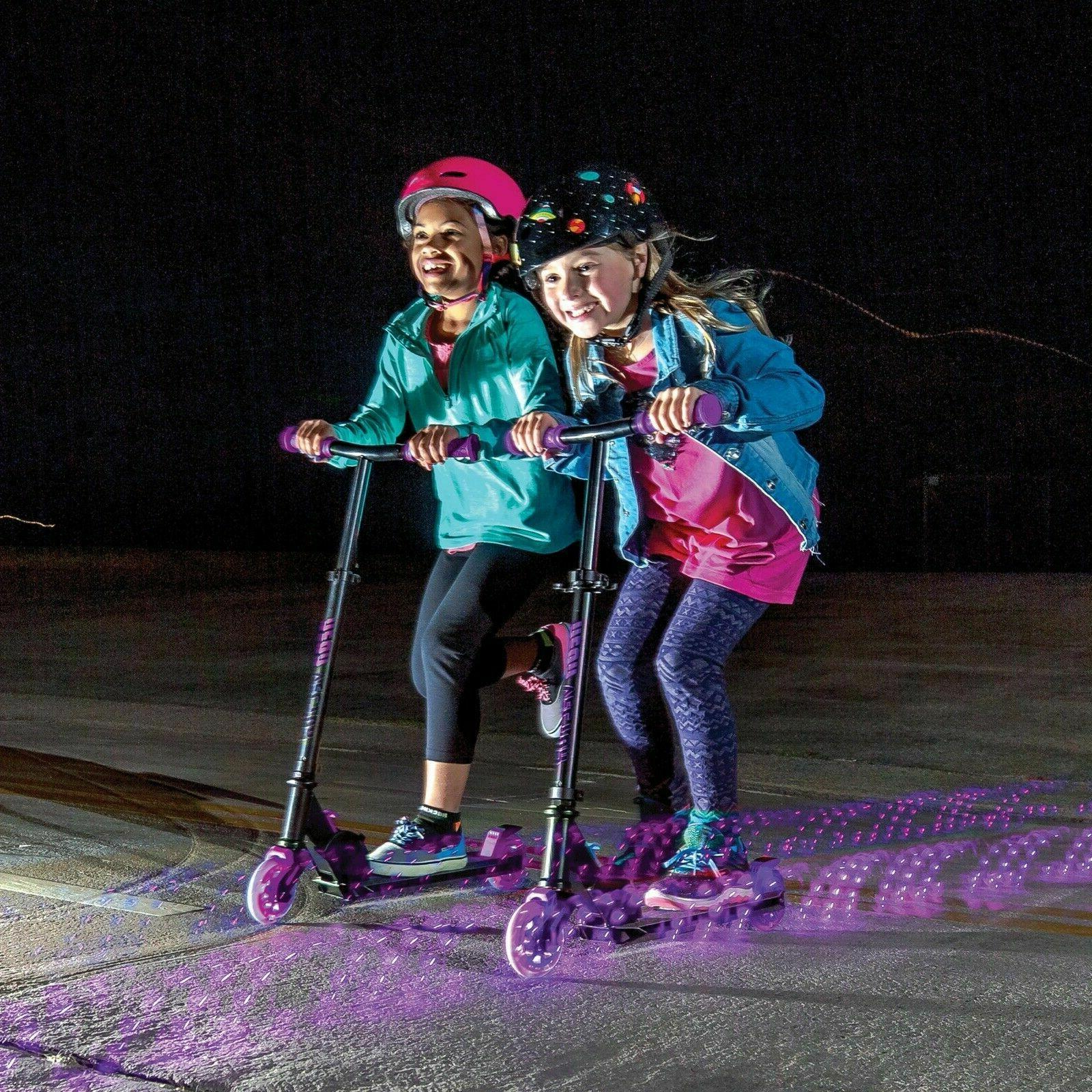 neon vector purple led light up scooter