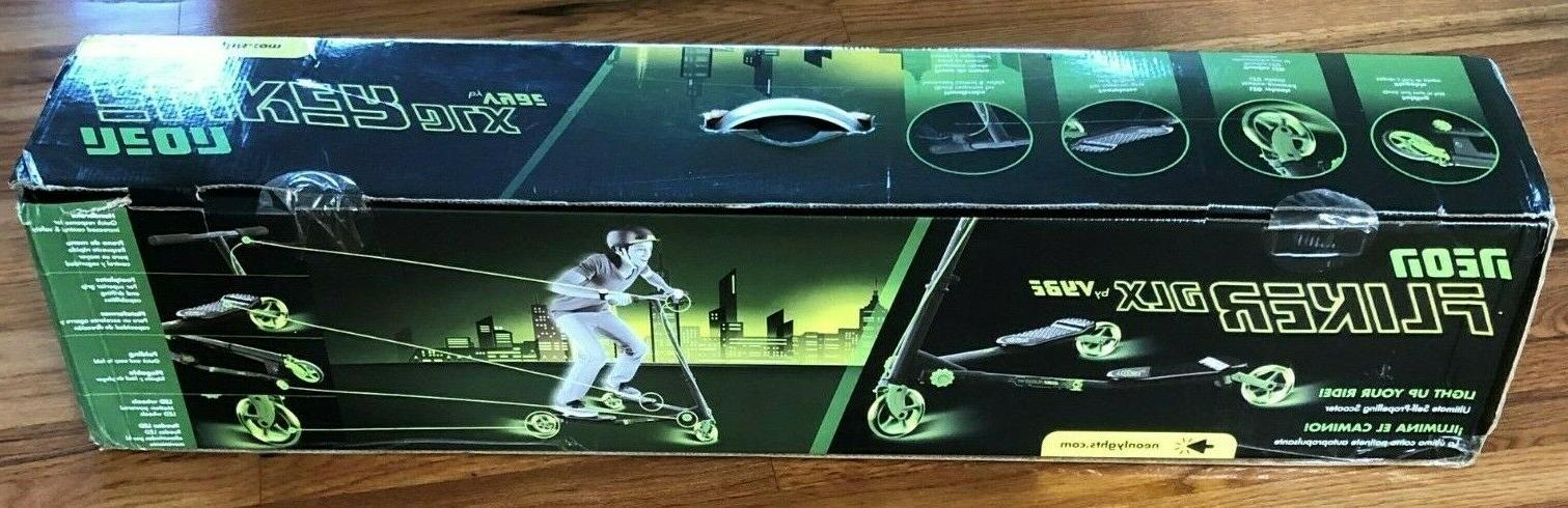 new neon fliker dlx led wiggle scooter